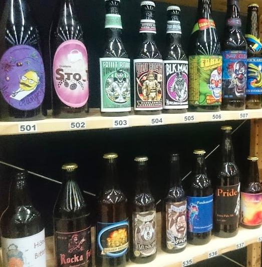 SM hmbrygd öl etiketter flaskor